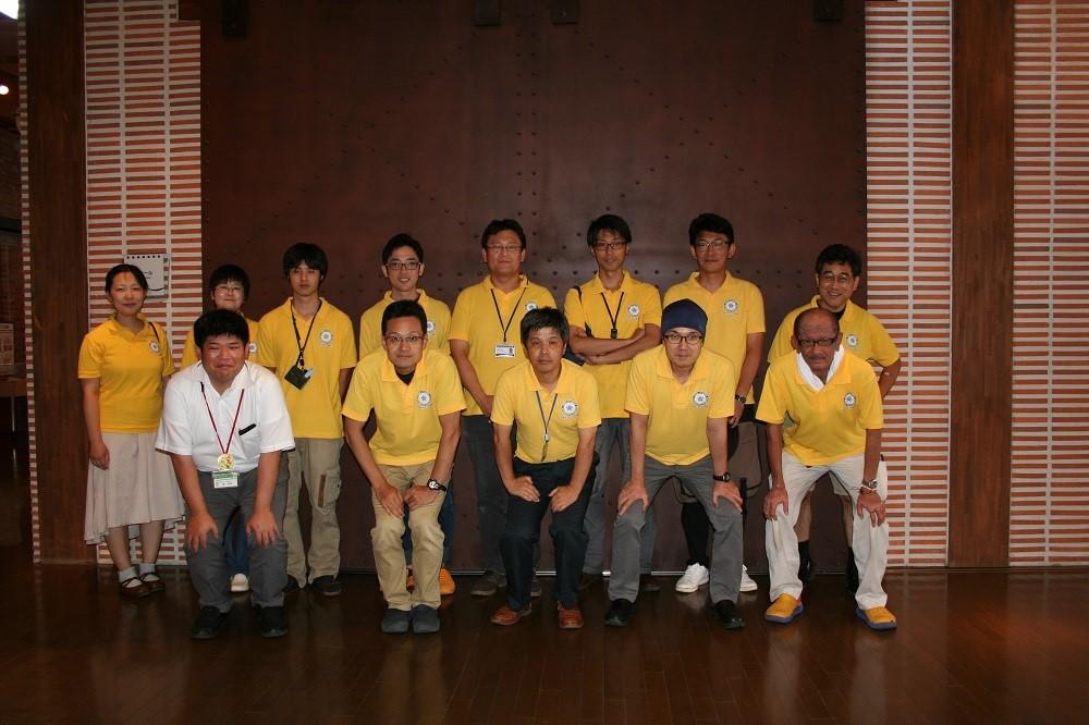実験教室チーム参加者と熊取町の担当者