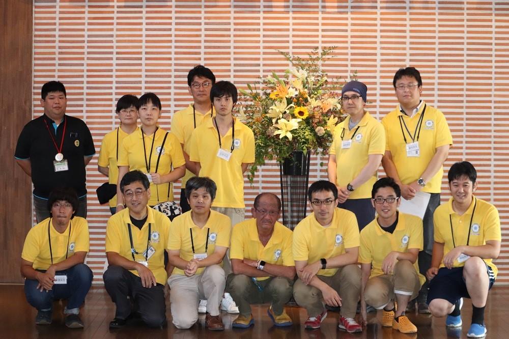 実験教室チーム参加者(および実験補助院生2名)と熊取町の担当者